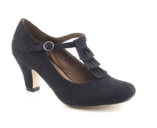 Court Shoe With Frill Trim - Junior