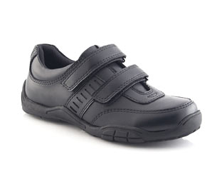 Leather Double Velcro Casual Shoe - Junior