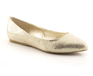 Metallic Ballerina With Pointed Toe - Sizes 1-2