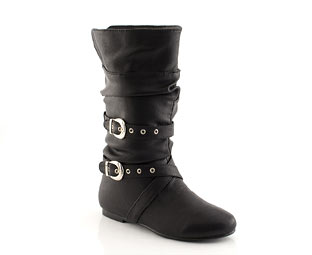 Mid High Pull On Boot With Buckle Detail - Infant