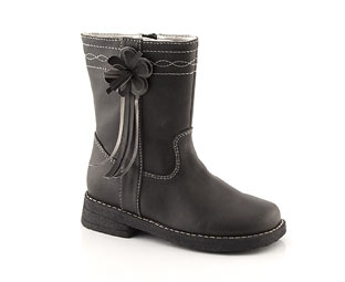 Mid Leg Boot With Flower Trim - Nursery