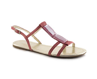 Sandal With Large Jewel Trim - Junior