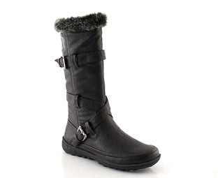 Twist Strap Mid High Boots - Junior