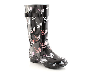 Wellington Boot With Flower Print - Junior