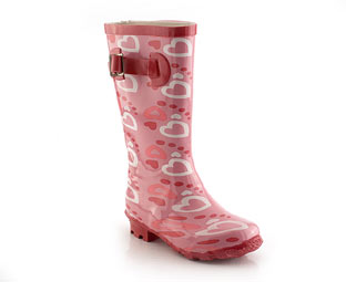 Wellington Boot With Heart Design - Infant
