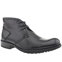 Male Private Chukka Leather Upper in Black, Tan