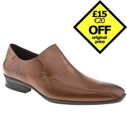 Male Virtue Tram Loafer Leather Upper in Tan