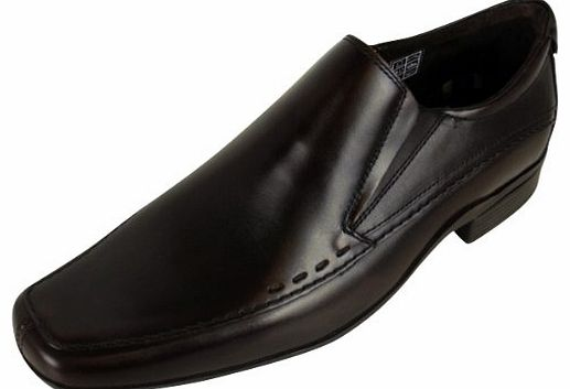 Mens Leather Base London Propelled Designer Shoe Slip On Formal Shoes UK 6