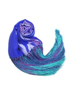 Tie and Dye Silk Fringed Shawl