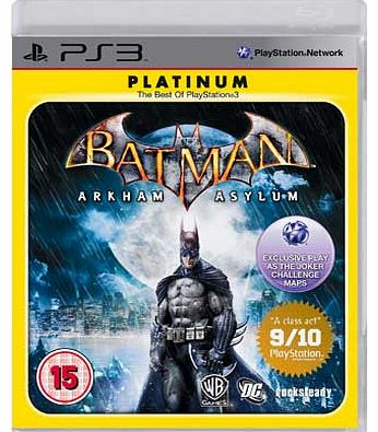 Arkham Asylum Game of the Year PS3 Game