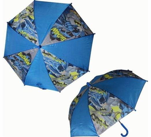 Character Batman Blue Nylon Umbrella For Kids