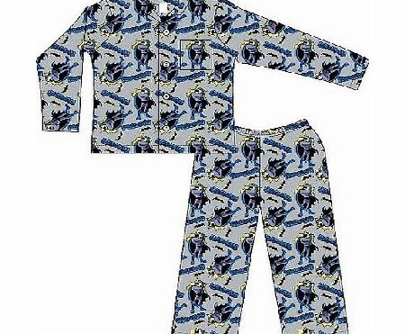 KIDS BOYS CHILDREN BATMAN WINCEYETTE COTTON PYJAMAS 3-10 YRS WARM PJS CHARACTER PYJAMA OFFICIAL PJ (5-6 YEARS)