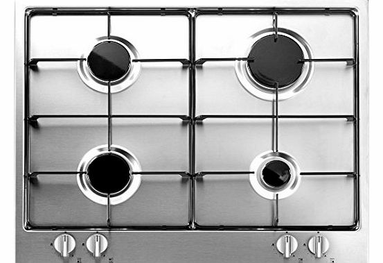 Baumatic BYHG604.5SS Unbranded Gas Hob Built In Stainless Steel