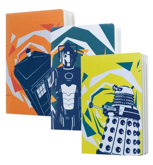 Doctor Who Pack Of 3 A5 Exercise Books from BBC