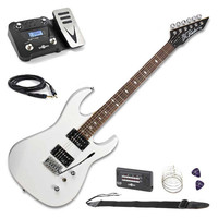 ASM One Electric Guitar White with Multi
