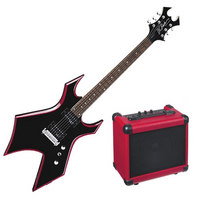 DISC BC Rich Red Bevel Electric Guitar Warlock