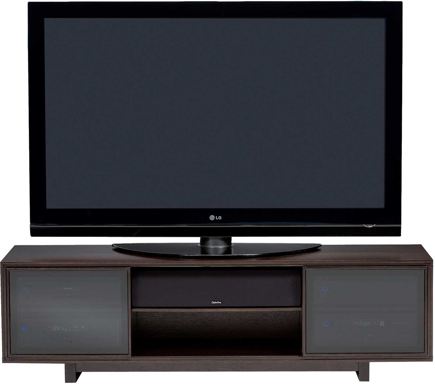Led Tv Stand Images : BDI Cirrus 8157 Oak Plasma, LED and LCD TV Stand
