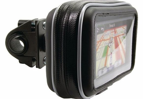 Cycle / Bike / Bicycle & Motorbike Waterproof holder mount and case for GPS Tomtom and Garmin Satnav models up to 5 inch models