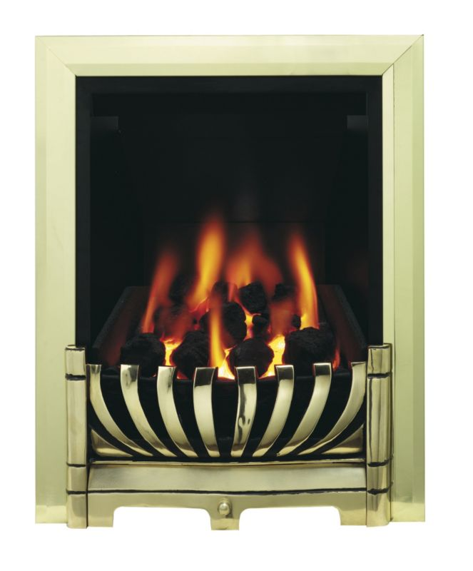 Be Modern 120mm Brass Gas Fire 8010