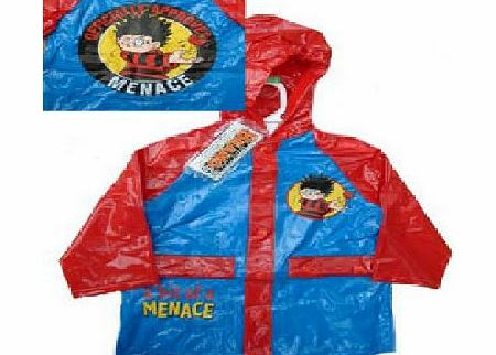 Dennis the Menace Vinyl Raincoat / Mac Age 3-4