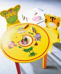 Childrens Round Table and 2 Chair Dining Set