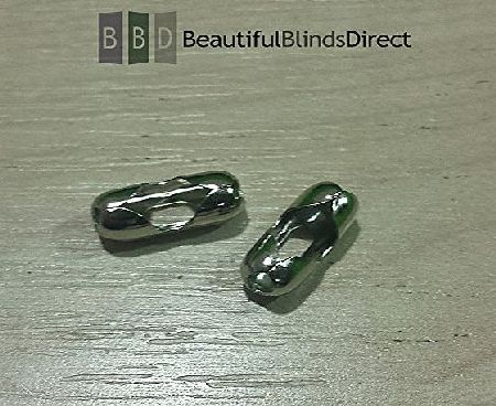 Beautiful Blinds Direct Pack of 24 x Metal Roller Blind Beaded Chain Connector