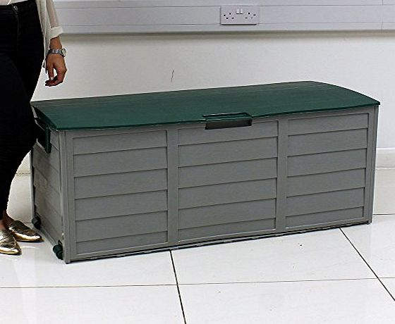Beauty4Less Plastic Garden Storage Box Green Lid
