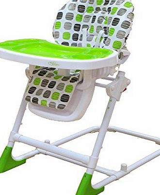 Bebe Style Modern HiLo Adjustable Recline   Highchair (Green)