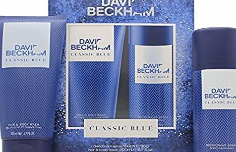 Beckham David Beckham Classic Blue Deodorant amp; Body Wash Set by Beckham