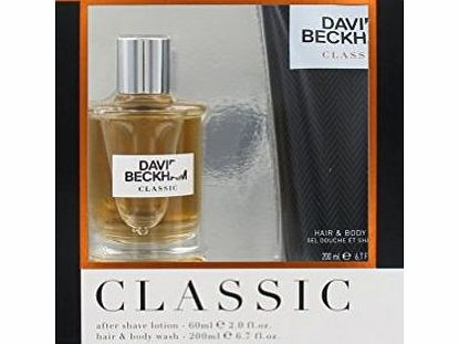 David Beckham Classic Gift Set 60ml Aftershave and 200ml Body Wash