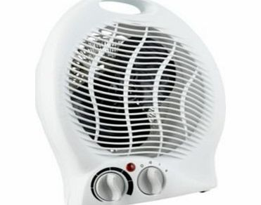 Becks 2KW / 2000W Upright Portable Fan Heater with Dual heat settings amp; adjustable thermostat