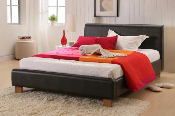 Barcelona Faux Leather Bed Frame Small Double