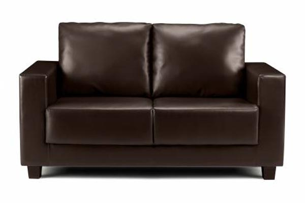 Boxa Brown Faux Leather Sofa