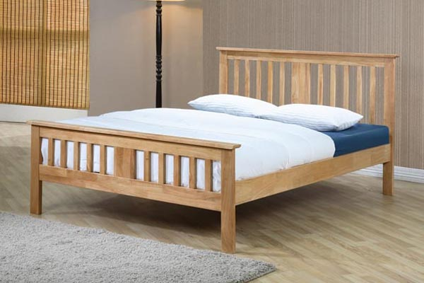Brent Wooden Bed Frame Double 135cm