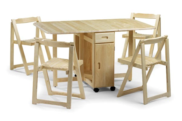 Folding Table With Chairs Stored Inside BUTTERFLY DINING TABLE WITH CHAIRS | Chair Pads & Cushions