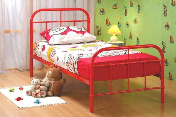 Chelsea Red Bed Frame Single 90cm