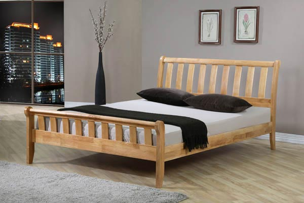 Corvallis Wooden Bed Frame Small Double 120cm