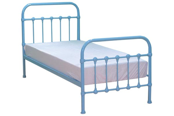 Darwin Baby Blue Metal Bed Frame Single 90cm