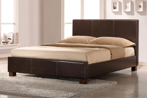 Dorset Faux Leather Bed Frame Double 135cm