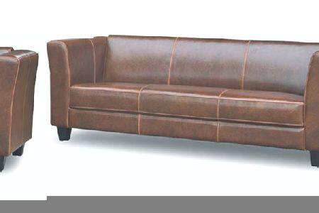 Emily Leather Three Seater Sofa