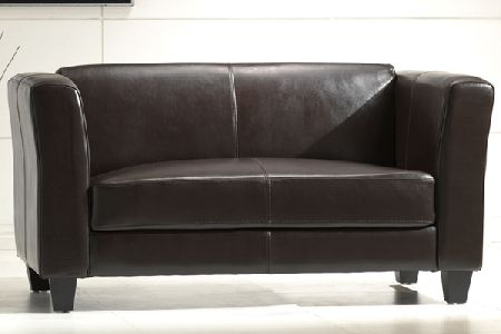 Emily Leather Two Seater Sofa