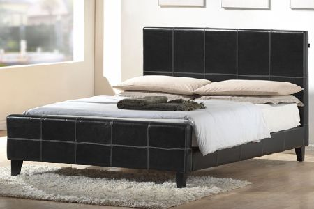 Erba Leather Bed Double 135cm