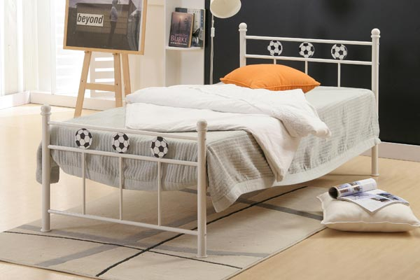 Euro Football Metal Bed Frame Single 90cm