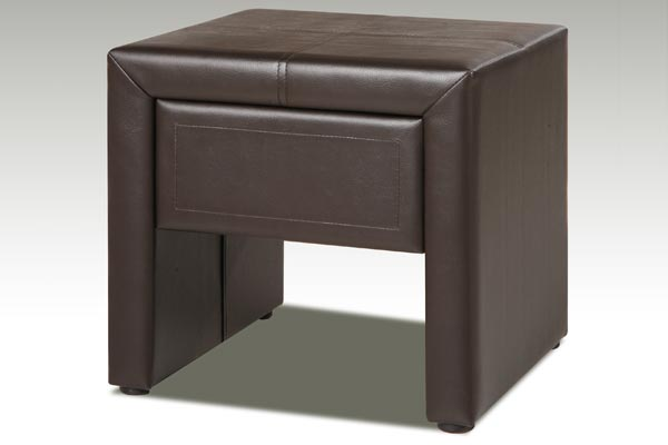 Faux Leather 1 Drawer Bedside