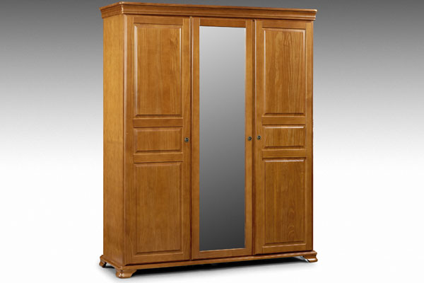 Fontainebleau - Three Door Wardrobe with Mirror