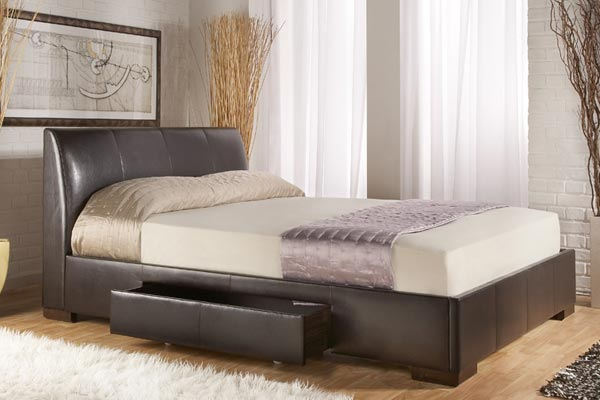 Kenton Black Bed Frame Double 135cm