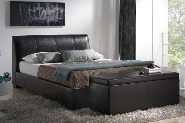 Kenton Brown Bed Frame Double 135cm