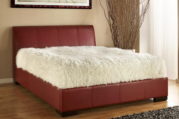 Kenton Red Bed Frame Double 135cm