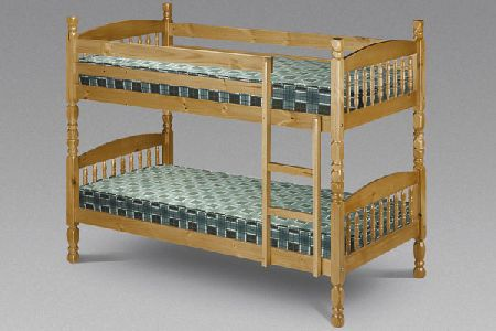 Lincoln Pine Bunk Beds Single 90cm