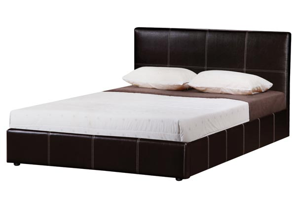 Lyon Faux Leather Bed Frame Double 135cm